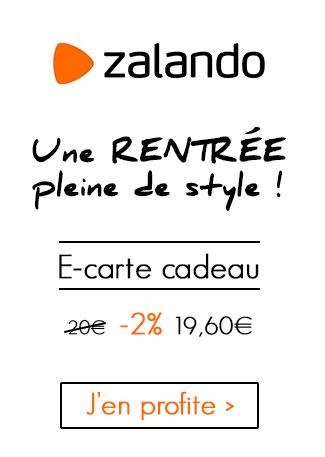 E-carte cadeau 20 euros Zalando