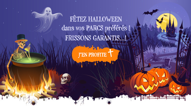 Fêtez Halloween dans nos parcs préférés ! Frissons garantis... !